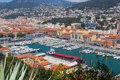Hafen von Nizza, Taubenschlag d ` Azur, Frankreich stockfotos
