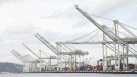 Hafen von Oakland-Anschlüssen leeren sich Stockbilder