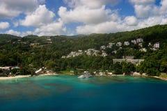 Hafen von Ocho Rios jamaika Foto von der Luft Lizenzfreies Stockfoto