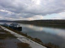 Hafen von Oltenita stockbild