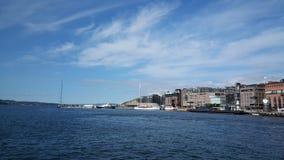 Hafen von Oslo Norwegen Stockbild