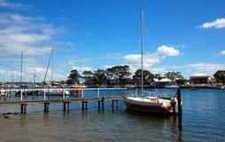 Hafen von Paynesville, Zustand Victoria, Australien. Stockfotografie