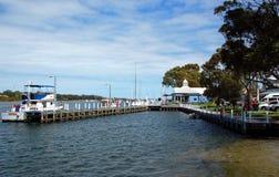 Hafen von Paynesville, Zustand Victoria, Australien. Stockfoto