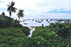 Hafen von Phu Coq, Vietnam stockfotos