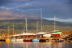 Hafen von Ponta Delgada auf Sao-Miguel-Insel, Azoren Stockfotografie