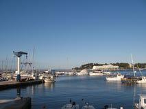 Hafen von Porec Stockfotografie