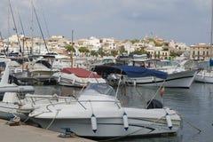 Hafen von Portocolom Stockbilder