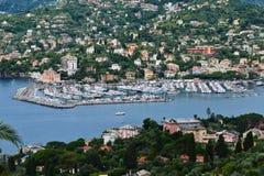 Hafen von rapallo Stockbilder