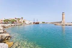 Hafen von Rethimno Stockbild