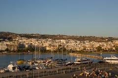 Hafen von Rethymnon Stockbild