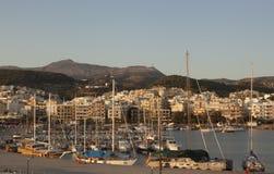 Hafen von Rethymnon Stockbilder