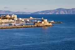 Hafen von Rhodos Lizenzfreies Stockbild