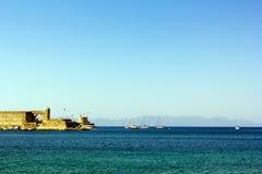Hafen von Rhodos Stockfoto