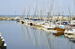 Hafen von Rimini - Marina di Rimini stockbilder