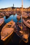 Hafen von Rovinj Stockfoto