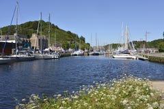 Hafen von Saint Brieuc in Frankreich Lizenzfreie Stockfotografie