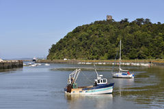 Hafen von Saint Brieuc in Frankreich Lizenzfreies Stockbild