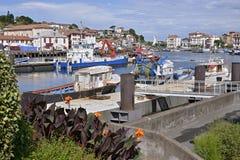 Hafen von Saint-Jean-De Luz und von Cibourre in Frankreich Lizenzfreies Stockbild