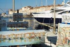Hafen von Saint Tropez Lizenzfreies Stockfoto