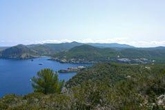 Hafen von San Miguel, Ibiza spanien Lizenzfreies Stockbild