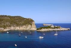 Hafen von San Miguel, Ibiza spanien Lizenzfreie Stockbilder
