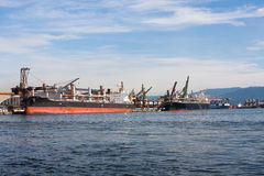 Hafen von Santos, Brasilien Lizenzfreies Stockbild