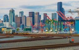 Hafen von Seattle-Bezirk Stockfoto
