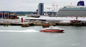 Hafen von Southampton Stockfotografie