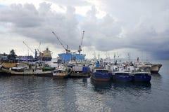 Hafen von Suva stockbild