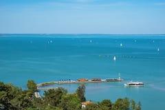 Hafen von Tihany auf Plattensee, Ungarn Lizenzfreie Stockfotos