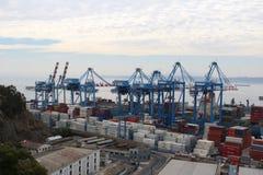 Hafen von ValparaÃso lizenzfreie stockfotos