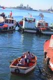 Hafen von Valparaiso Stockfotos
