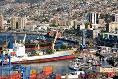 Hafen von Valparaiso, Chile Lizenzfreie Stockfotografie