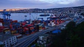Hafen von Valparaiso Timelapse 4K stock video footage