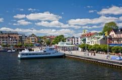 Hafen von Vaxholm, Schweden Stockbild