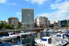 Hafen von Vigo (Galizien, Spanien) Lizenzfreies Stockbild