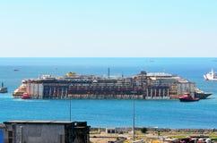 Hafen von voltri, Genua, Italien, am 27. Juli Annäherungsmann Lizenzfreie Stockfotografie