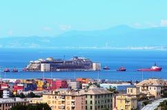 Hafen von voltri, Genua, Italien, am 27. Juli Annäherungsmann Stockfotos