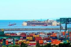 Hafen von voltri, Genua, Italien, am 27. Juli Annäherungsmann Stockfotografie
