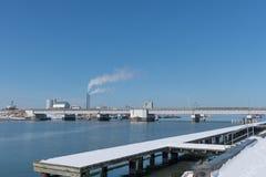 Hafen von vordingborg in Dänemark Lizenzfreies Stockfoto