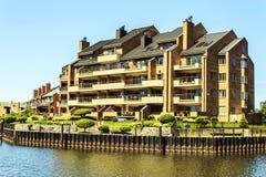 Hafen-Wohnungen Stockbild