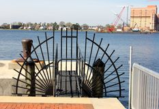 Hafen-Zugangspunkt-Eingangs-Tor, im Stadtzentrum gelegenes Norfolk Virginia lizenzfreies stockfoto
