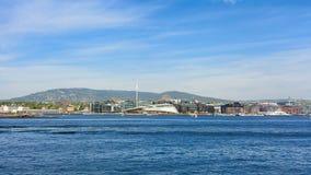 Hafenansicht in die Stadt von Oslo stockfotografie