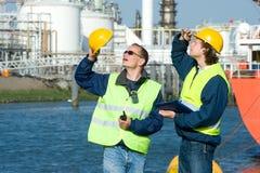 Hafenarbeiter Stockfotos