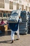 Hafenarbeiter im Hafen von Dubai Stockfotografie