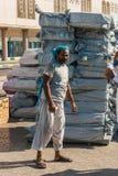 Hafenarbeiter im Hafen von Dubai Lizenzfreies Stockbild