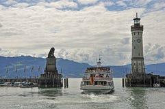Hafenausfahrt von Lindau am Bodensee Stock Images