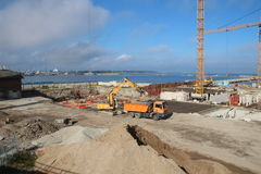 Hafenbau Stockfotos