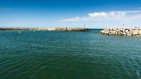 Hafenbecken in Lohme Stockbilder
