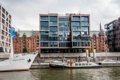 Hafencity汉堡 库存照片